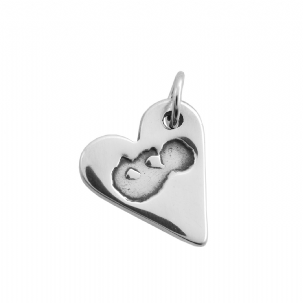 Sliver Heart Baby Scan Charm
